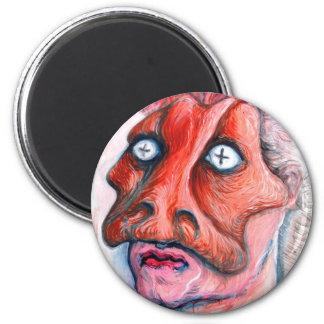 Masked man 2 inch round magnet