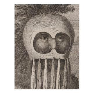Masked Man in the Sandwich Islands Postcard