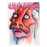 Masked man postcard