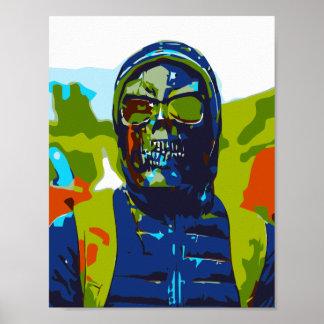 Masked man poster