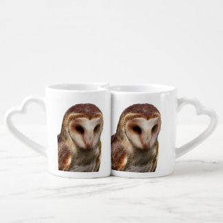 Masked Owl Fractal Coffee Mug Set
