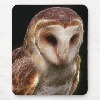 Masked Owl Fractal Mouse Pads