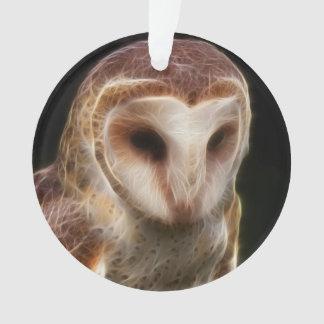 Masked Owl Fractal Ornament