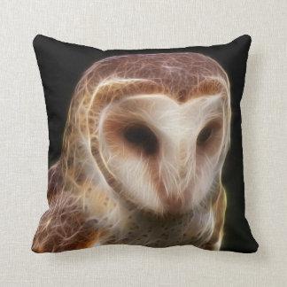 Masked Owl Fractal Pillows