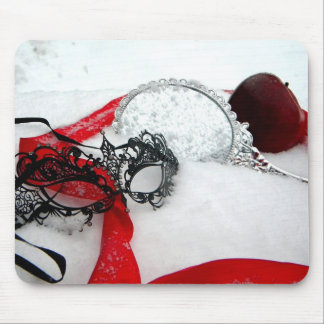 Masked Queens Snow Mouse Pad