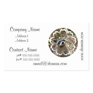 Masked Raccoon Business Card