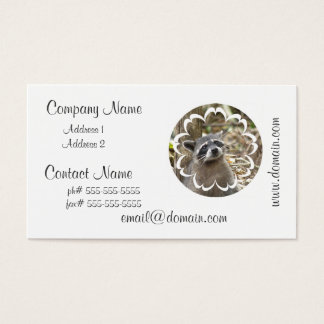 Masked Raccoon Business Card