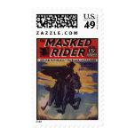 Masked Rider Western Hero Pulp Postage Stamp