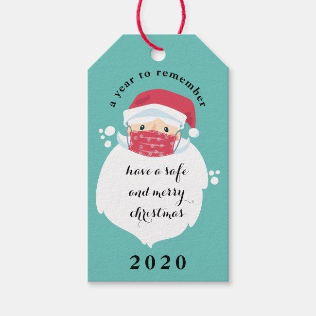 Masked Santa 2020 Christmas Gift Tags