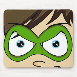 Masked Superboy Hero Mousepad