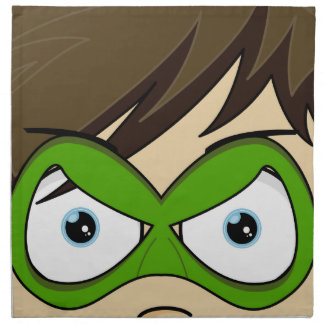 Masked Superboy Hero Napkin