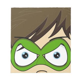 Masked Superboy Hero Notepad