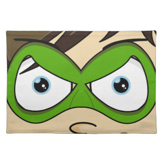 Masked Superboy Hero Placemat