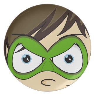 Masked Superboy Hero Plate