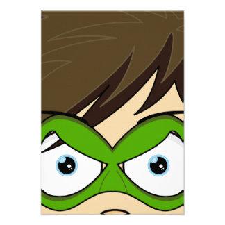 Masked Superboy Hero RSVP Card Custom Invites