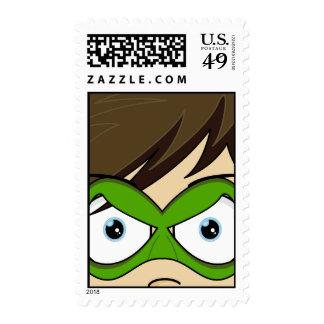Masked Superboy Hero Stamp