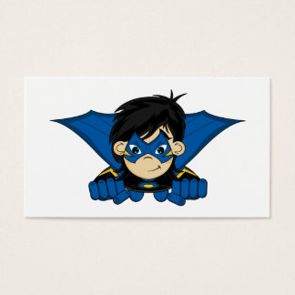 Masked Superhero Girl Bookmark Business Card