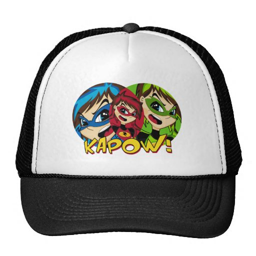 Masked Superhero Girl Cap Trucker Hat