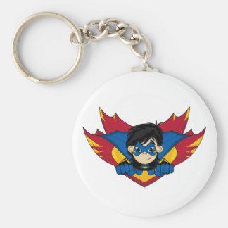 Masked Superhero Girl Keychain