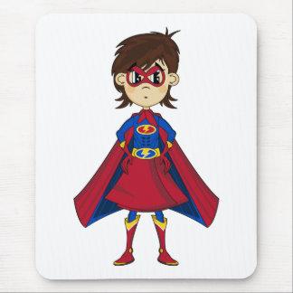 Masked Superhero Girl Mousepad