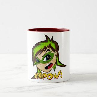 Masked Superhero Girl Mug