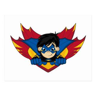 Masked Superhero Girl Postcard