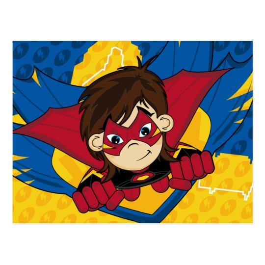 Masked Superhero Postcard