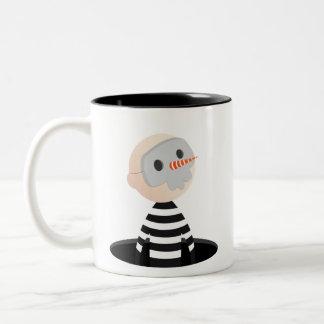 Masked Thief Two-Tone Coffee Mug