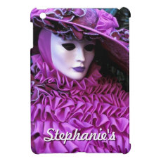 Masked Woman With Large Purple Hat iPad Mini Cover