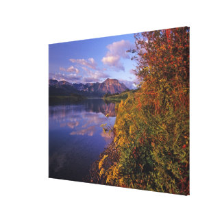 Maskinonge Lake in Waterton Lakes National Park 2 Stretched Canvas Print