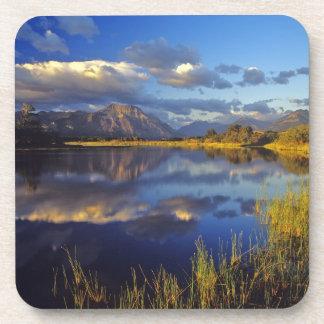 Maskinonge Lake in Waterton Lakes National Park 3 Drink Coaster