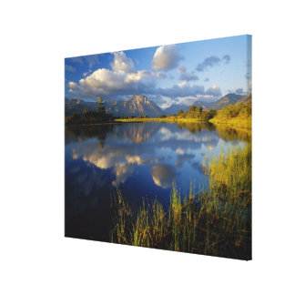 Maskinonge Lake in Waterton Lakes National Park Stretched Canvas Prints