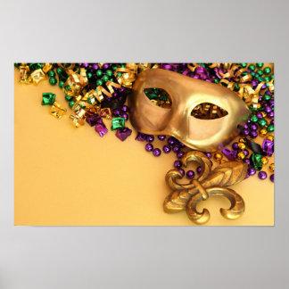 masks-351906 GOLDEN PURPLE EMERALLD GREEN GLITTER Poster