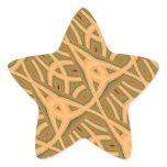 Masks and Knots Star Sticker