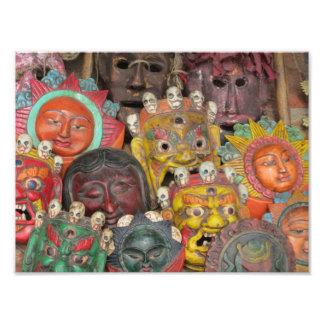 Masks at Boudhanath, Kathmandu, Nepal Photo Print