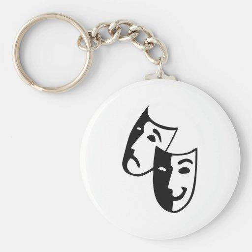 Masks Basic Round Button Keychain