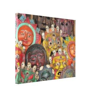Masks in Boudhanath: Kathmandu, Nepal Canvas Print