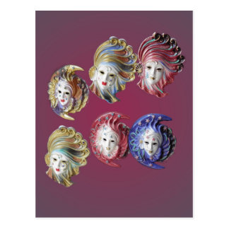 Masks Postcard