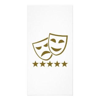 Masks stars card