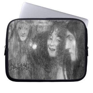 Masks Thalia and Melpomene by Klimt Laptop Computer Sleeves