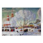 Maslanitsa - vacaciones de invierno de la semana tarjeta de felicitación