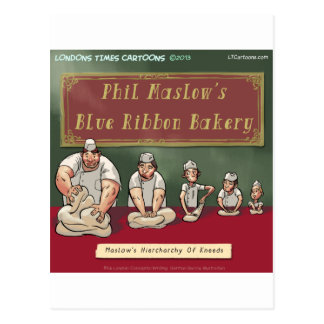 Maslows Bakers Heirchachy Postcard