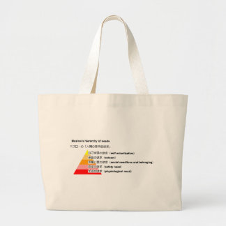 Maslow's hierarchy of needs japanese large tote bag