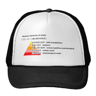 Maslow's hierarchy of needs japanese trucker hat