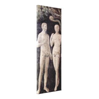Masolino Da Panicale - Temptation of Adam and Eve Canvas Prints