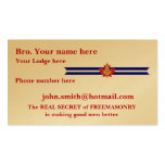 Mason and Shriner Christmas Gifts Business Card Templates