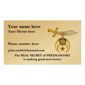 Mason and Shriner Emblem Business Card Template
