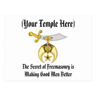 Mason and Shriner Emblem Postcard