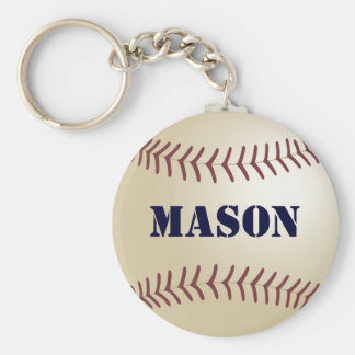 Mason Baseball Keychain by 369MyName