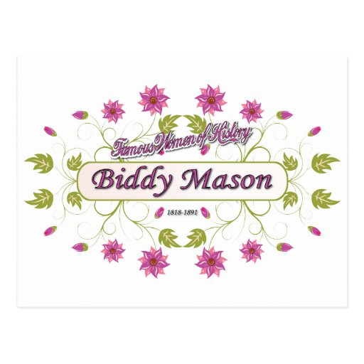 Mason ~ Biddy Mason ~ Famous American Women Post Card
